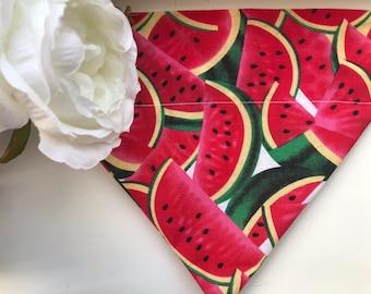 Haus_OfPaws Pink Watermelon Print Bandana