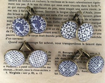 New retro blue collection earrings