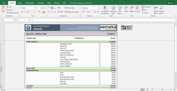 Fantastisch Monatliche Budgetvorlage Excel Galerie - Beispiel ...