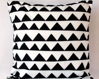 black and white geometric monochrome handmade throw cushion cover perfect for indoor or outdoor 45x45 18x18