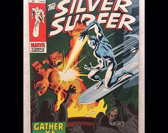 1969 SILVER SURFER #12 Marvel comic book John Buscema Stan Lee Gather Ye Witches