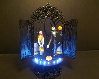Nightmare Before Christmas Jack and Sally Spiral Hill Bride