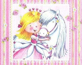 Sweet Little Princess paper 013 towel