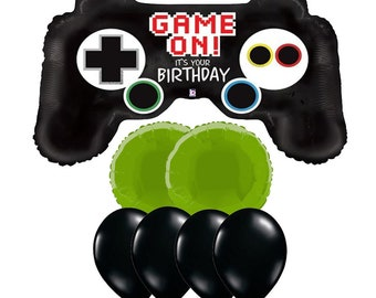 Gamer Birthday, Gamer Party, Xbox party, Remote Control Balloon, Video Game Party, Video Game Balloons, Video Game Party Ideas