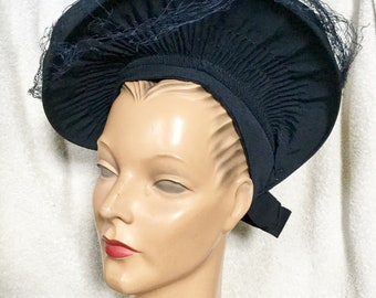 1940s Navy Halo Hat