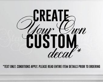 Personalized Decal Etsy - Custom vinyl decal text