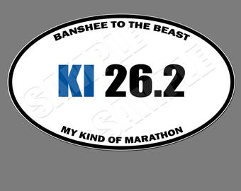 Kings Island 26.2 Oval Magnet 5X3 (Kings Island Inspired, Marathon Spoof Style Magnet)