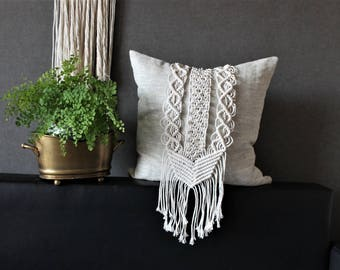 Macrame Pillow cover 18''x18'', cushion, Boho style, Housewarming gift, Wedding gift, Bohemian home decor, Easter gift