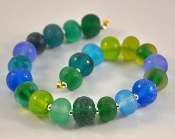 Lampwork Sea glass beads