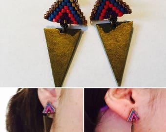 Miyu (different colors) brass beads earrings