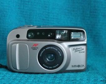 Minolta Silver Streak Zoom Camera