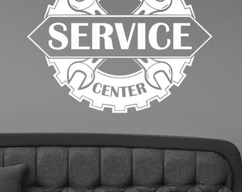 Auto Service Center Logo Window Sticker Custom Vinyl Decal Repair Car Station Sign Garage Wall Decorations Removable Art Decor aus5
