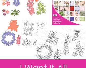Heartfelt Creations Classic Rose I-Want-it-All Collection IWIA-178