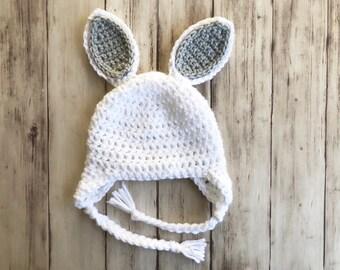 Crochet Bunny Hat | Baby bunny ear hat, baby Easter hat, Easter gift for baby, Easter newborn hat, Rabbit ear hat, kids bunny beanie