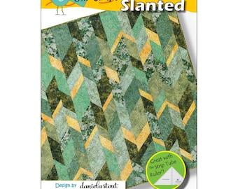 Pattern - Slanted Quilt Pattern - Cozy Quilt Designs (01133) Quilt Pattern Paper Pattern
