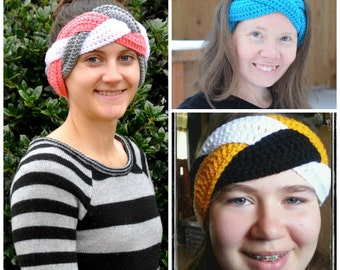 PATTERN CROCHET Braided Earwarmer/Headband