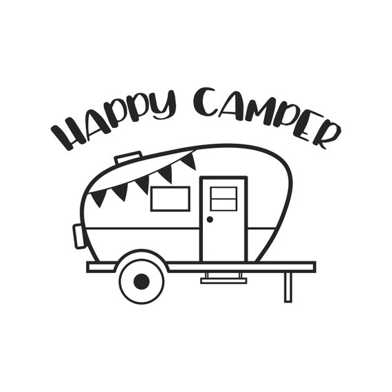 camping svg Happy camper svg happy camper dxf camping