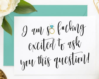 Funny Asking Cards, Cute Bridesmaid Card, Funny Bridesmaid Card, Funny Maid of Honor, Will You Be My Bridesmaid, Be My Maid of Honor