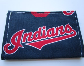 Cleveland Indians Baseball Wallet, Credit Card Wallet, Tribe, slim wallet, Business Card Holder, Gift Card, Chief Wahoo, Business Card Case