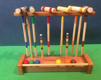 Croquet game, 6 set Miniature 1 inch scale dollhouse