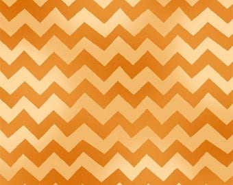 MONKEY BUSINESS - Chevron Stripe in Orange - Cotton Quilt Fabric - Bethany Shackleford - Quilting Treasures Fabrics - 24068-O (W4080)