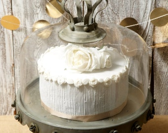 Metal and Glass Cake Stand     Simply Beautiful