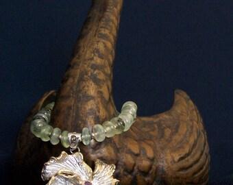 Rich Green Garnet Necklace Handmade Posh Prehnite Pendant Majestic Strand Classy Empowering Elegant Unique Statement Treasure FavoriteBlings