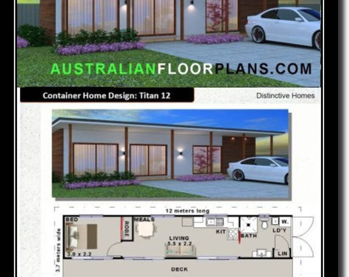 495sq ft or 46 m2 |  Shipping Container Home House Plans | Blueprints