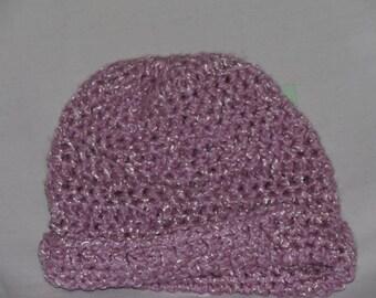 Medium purple newborn hat