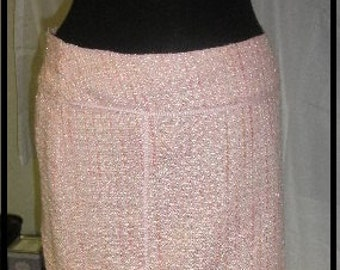 FINAL  REDUCTION Rachelle bouchle' fabric skirt pink sartorial details great finishing size 6