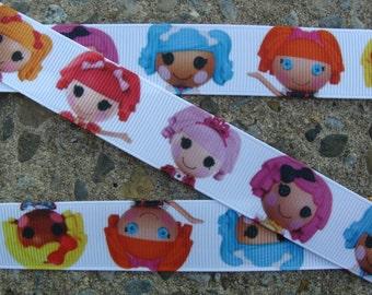"""3y Printed Ribbon 7/8"""" Lalaloopsy Ribbon hair Bow ribbon"""