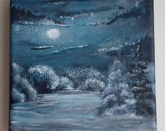 winter night scene (original)