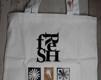 FRESH MARKET BAGS, Reusable Market Bags, Shopping Bags, Canvas Tote Bags, Canvas Shopping Bags, Unique Market Bags, Market Bags, Grocery Bag