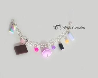 Candy Bracelet - Bracelet - Kawaii - Sweets - Treats - Chocolate - Licorice - Lollipop - Candy - Wonka - Marshmallow - Lollipop - Colored