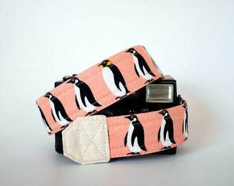 Penguin camera strap, SLR DSLR camera strap, photographer gift, cute camera strap, canon camera strap