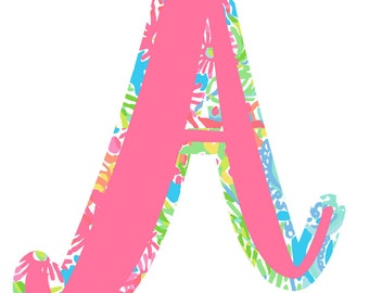 Lilly Inspired Alphabet Clip Art - Digital Clip Art INSTANT DOWNLOAD