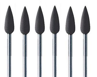 Mounted Silicone Black Points Medium Grit Pkg 6 Jewelry Polishing Foredom Dremel Wa 100-836