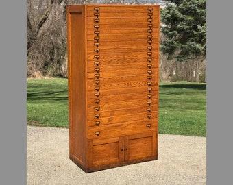 Vintage blueprint etsy oak 20 drawer flat file cabinet blueprints plat maps artwork local malvernweather Gallery