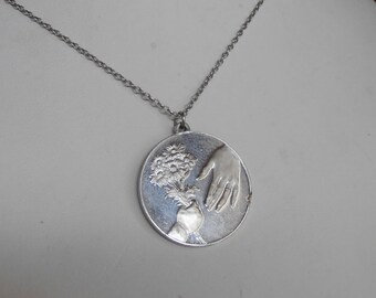 Franklin Mint Sterling Pendant Necklace, Mother's Day 1973, Gift Idea,  William Shoyer