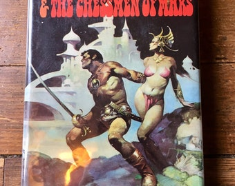 1972 Thuvia, Maid of Mars and The Chessman of Mars; John Carter Hardcover Novel. Edgar Rice Burroughs. Nelson Doubleday Inc