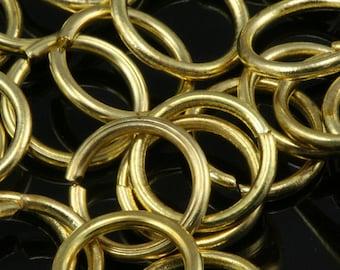 Open jump ring 14 mm 17 gauge( 1,2 mm ) raw brass jumpring 1417JR-40 1176R