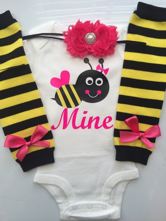 Baby Girl Valentine\'s Day BEE MINE Outfit valentines