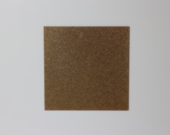 2mm Gold light glitter acrylic perspex sheet 600x370mm size