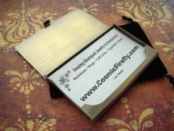 Brass anchor card case steampunk card case nautical anchor brass anchor card case steampunk card case nautical anchor case vintage inspired antiqued gold brass tone metal business card case colourmoves Gallery