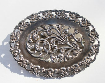 Sterling Silver Victorian Era Antique Belt Buckle