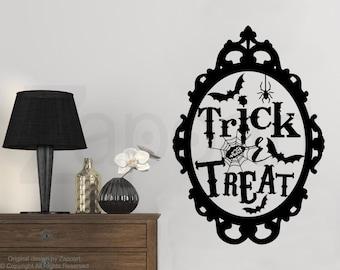 Halloween Decal Set Of 3 Teal Pumpkin Project Vinyl Wall