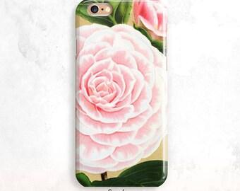iPhone 8 Case, Vintage Flower iPhone 7 Case, Floral iPhone X Case, iPhone 8 Plus, iPhone 7,Pink Flower iPhone 6 Case, Flower iPhone SE Case