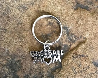Baseball Mom Keychain, Baseball Gifts for Mom, Baseball Player, Home Run, MLB, World Series, Sports Keychain, Sports Accessories, Under 5