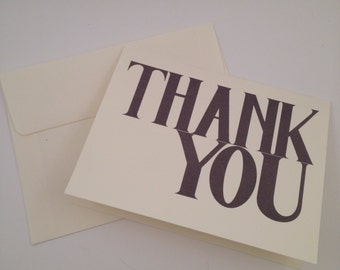 Simple Thank You Card with Envelope