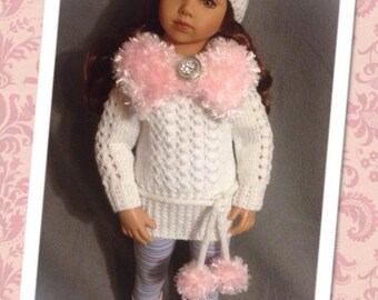 Ingrid Rae PDF Knitting Pattern to fit Maru and Friends 20 inch dolls INSTANT DOWNLOAD by Tiny New Faces™